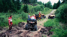 all terrain vehicle trails north of minnesota